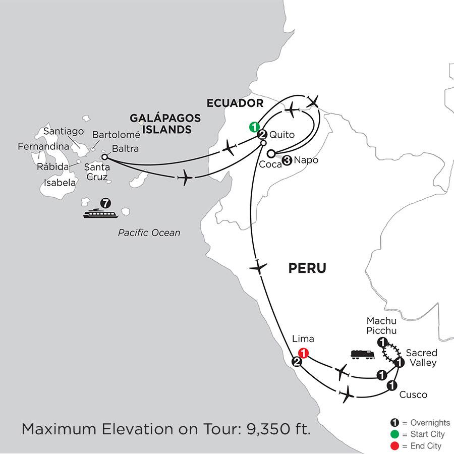 Cruising the Galápagos on board the Coral - 7 Night cruise with Ecuadors Amazon & Peru