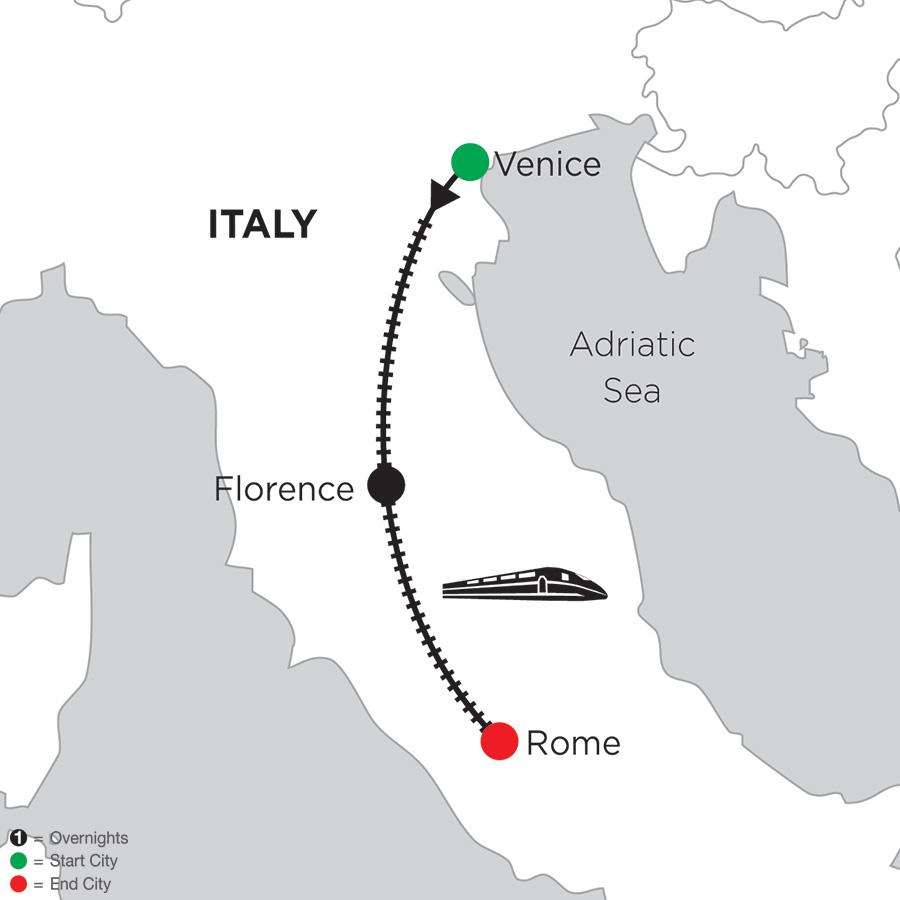 2 Nights Venice, 4 Nights Florence & 3 Nights Rome