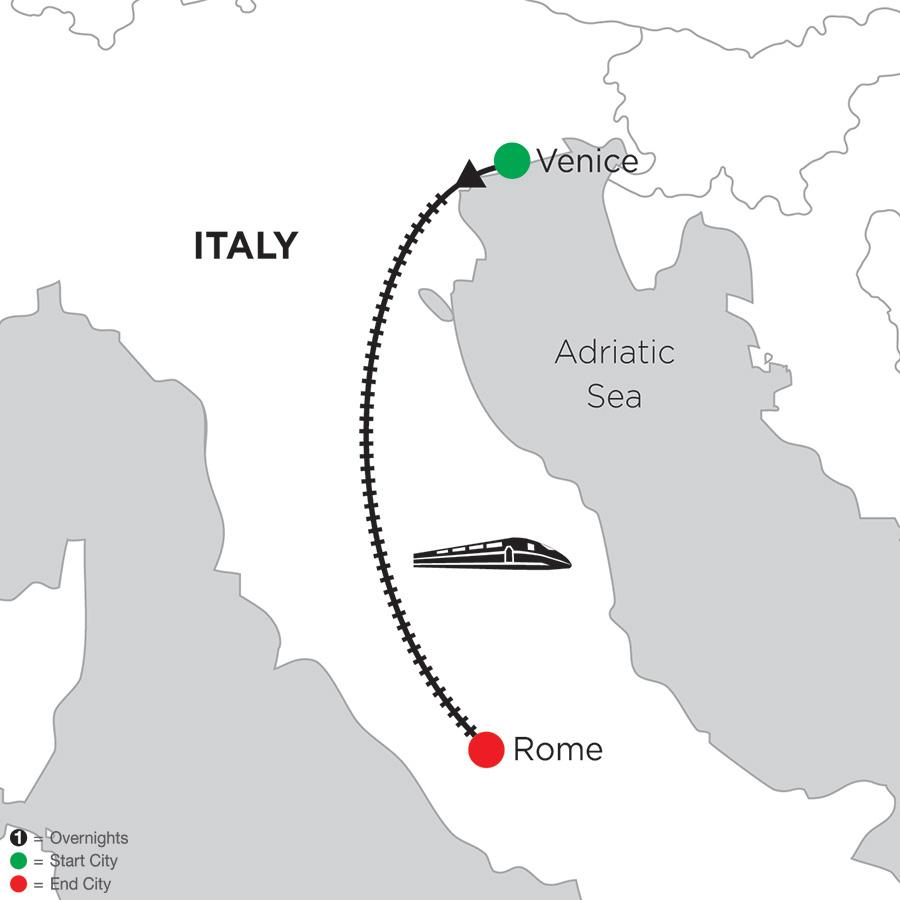 2 Nights Venice & 4 Nights Rome