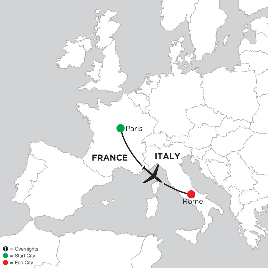 3 Nights Paris & 3 Nights Rome
