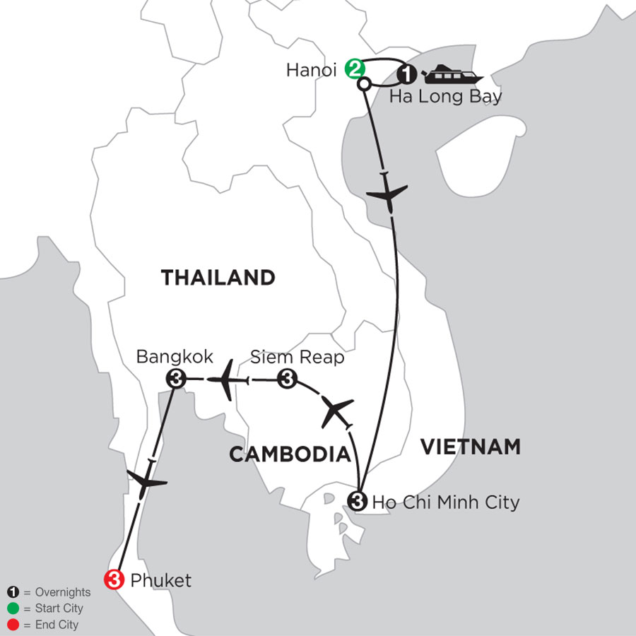 Taste of Vietnam & Cambodia with Bangkok & Phuket