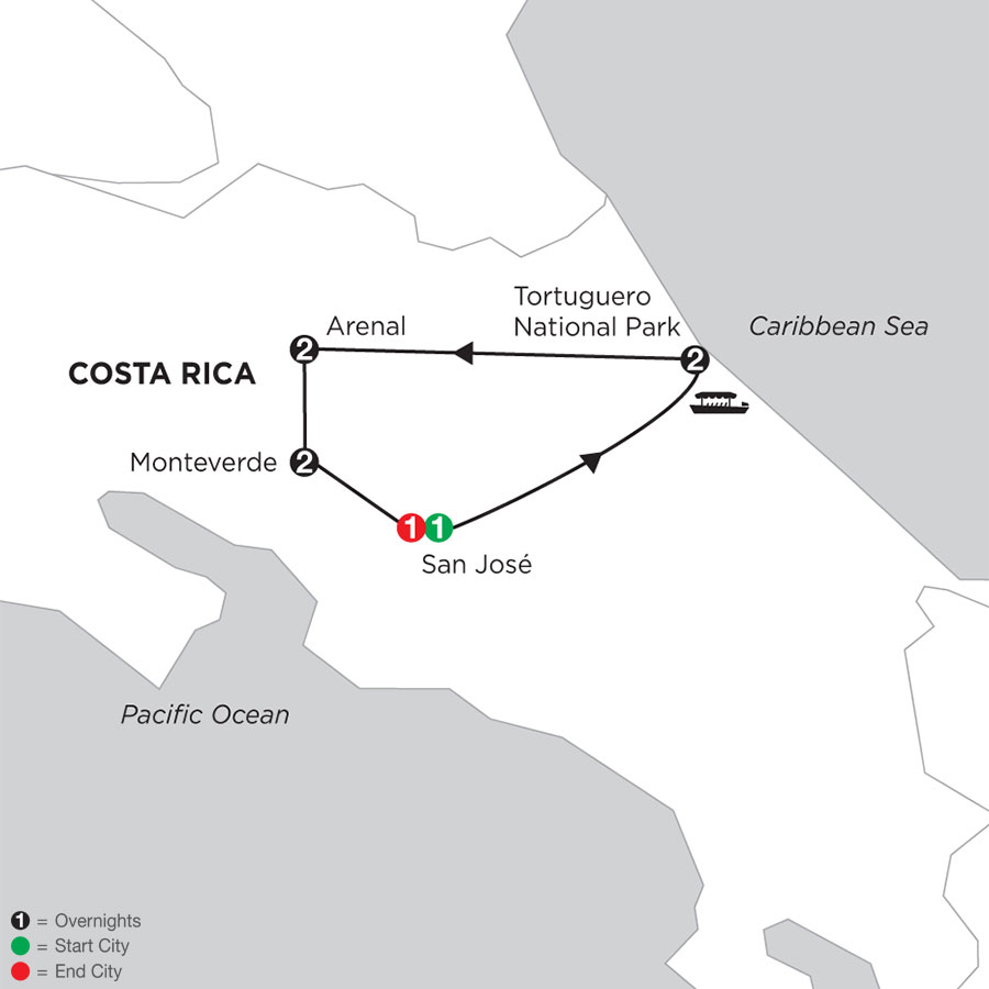 Costa Rica Wonders with Tortuguero