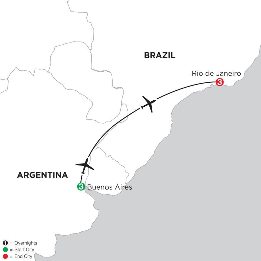 Buenos Aires Getaway with Rio de Janeiro