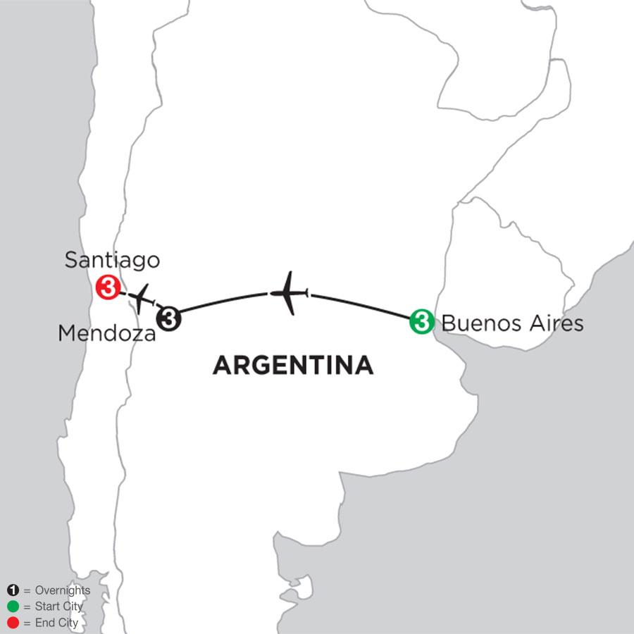 Buenos Aires Getaway with Mendoza & Santiago