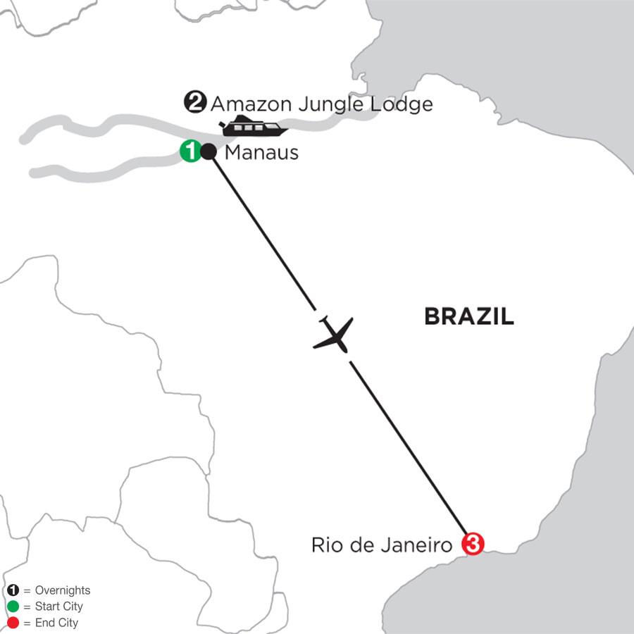 Rio de Janeiro Getaway with Brazils Amazon