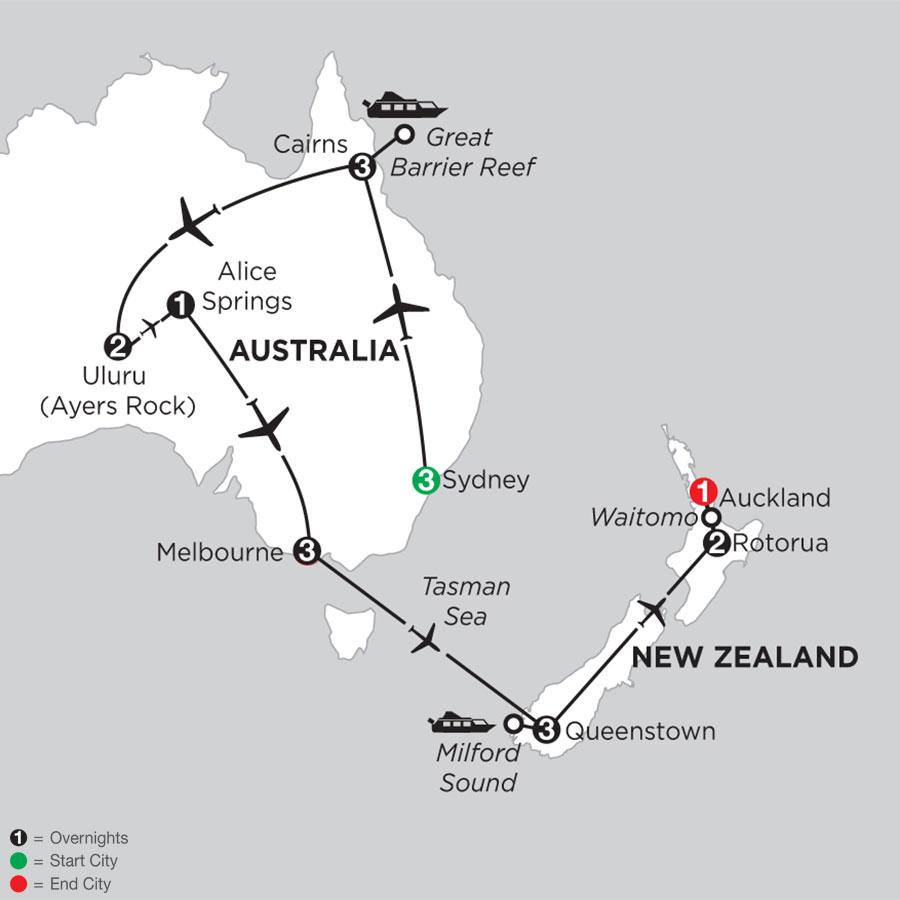 Best of Australia with Queenstown & Rotorua