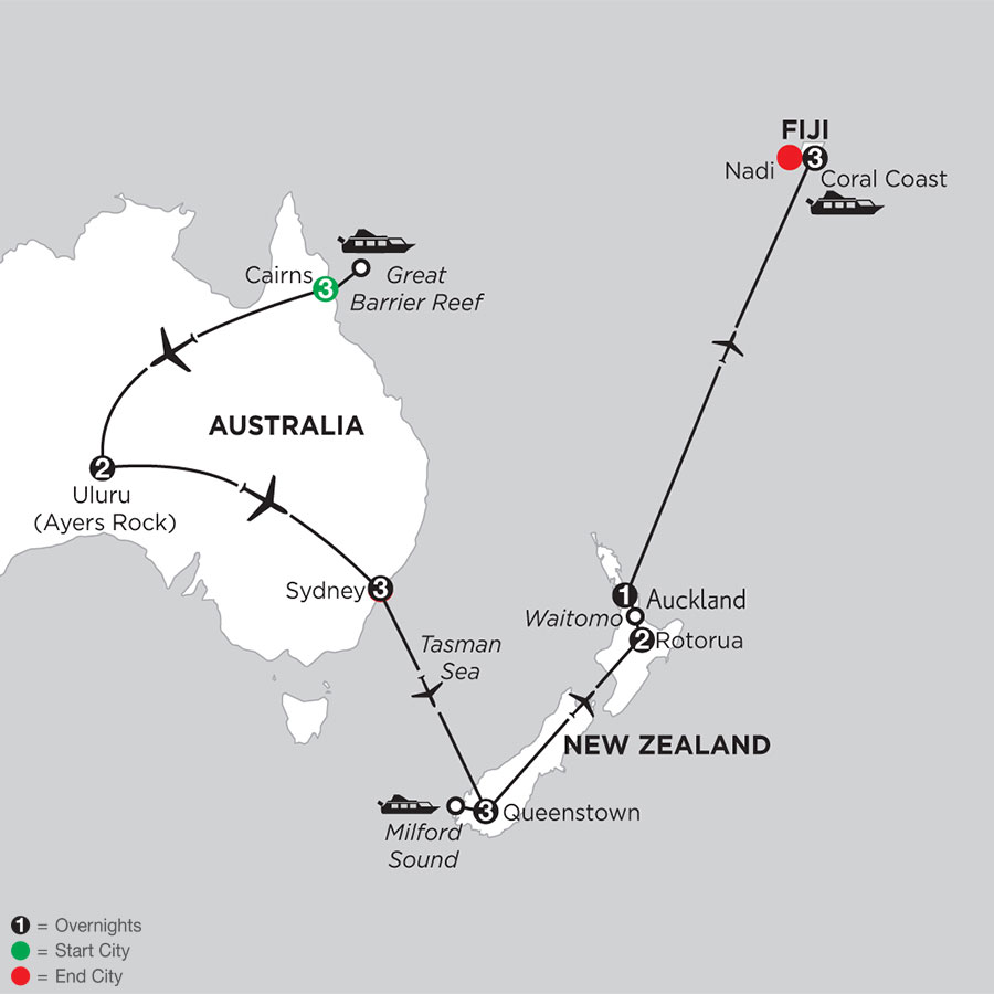 Best of Australia & New Zealand with Fiji