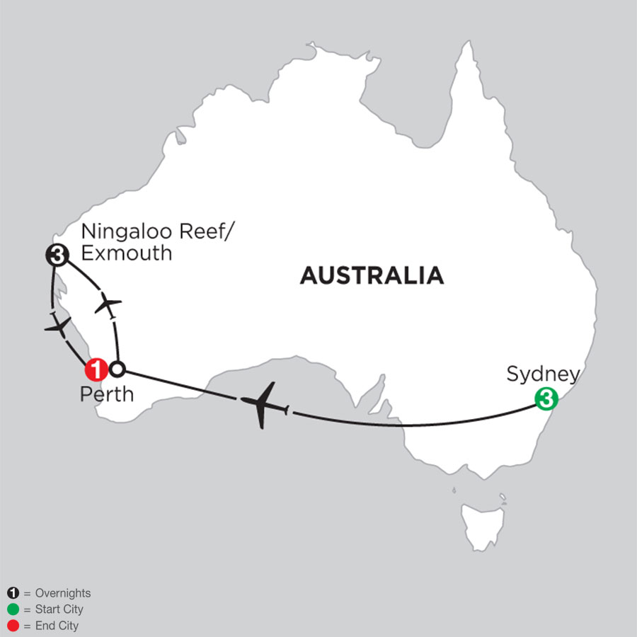 Sydney City Getaway with the Ningaloo Reef