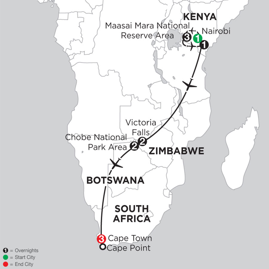 Jewels of Africa with Chobe National Park Area