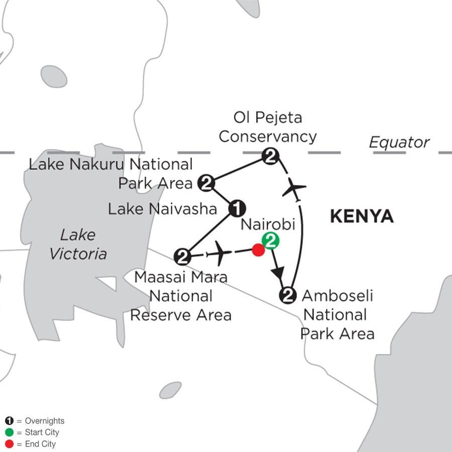 Kenya Private Safari with Nairobi & Amboseli National Park Area