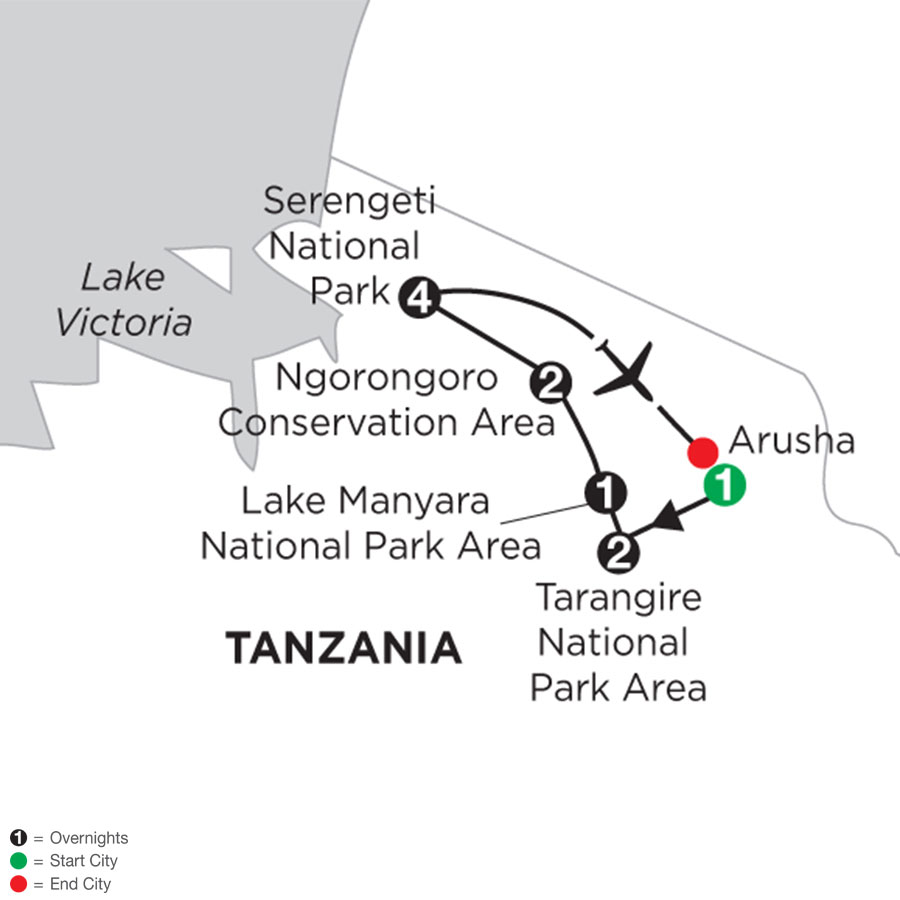 Tanzania Private Safari with Serengeti Stay