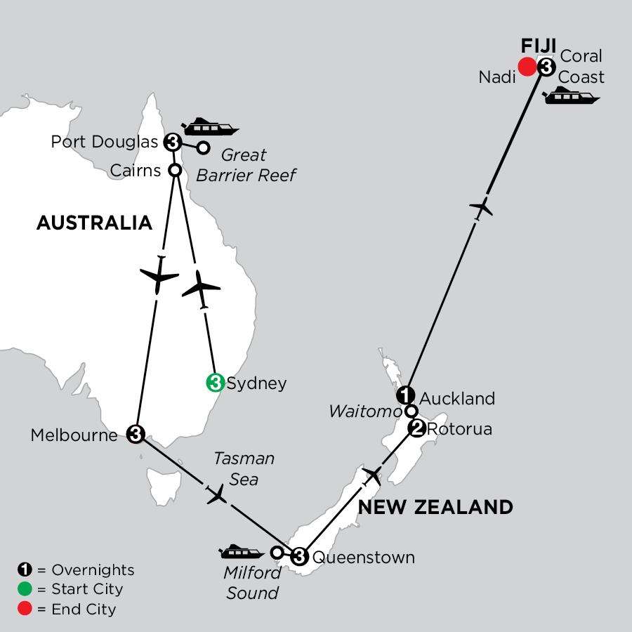 Australian & New Zealand Explorer with Fiji