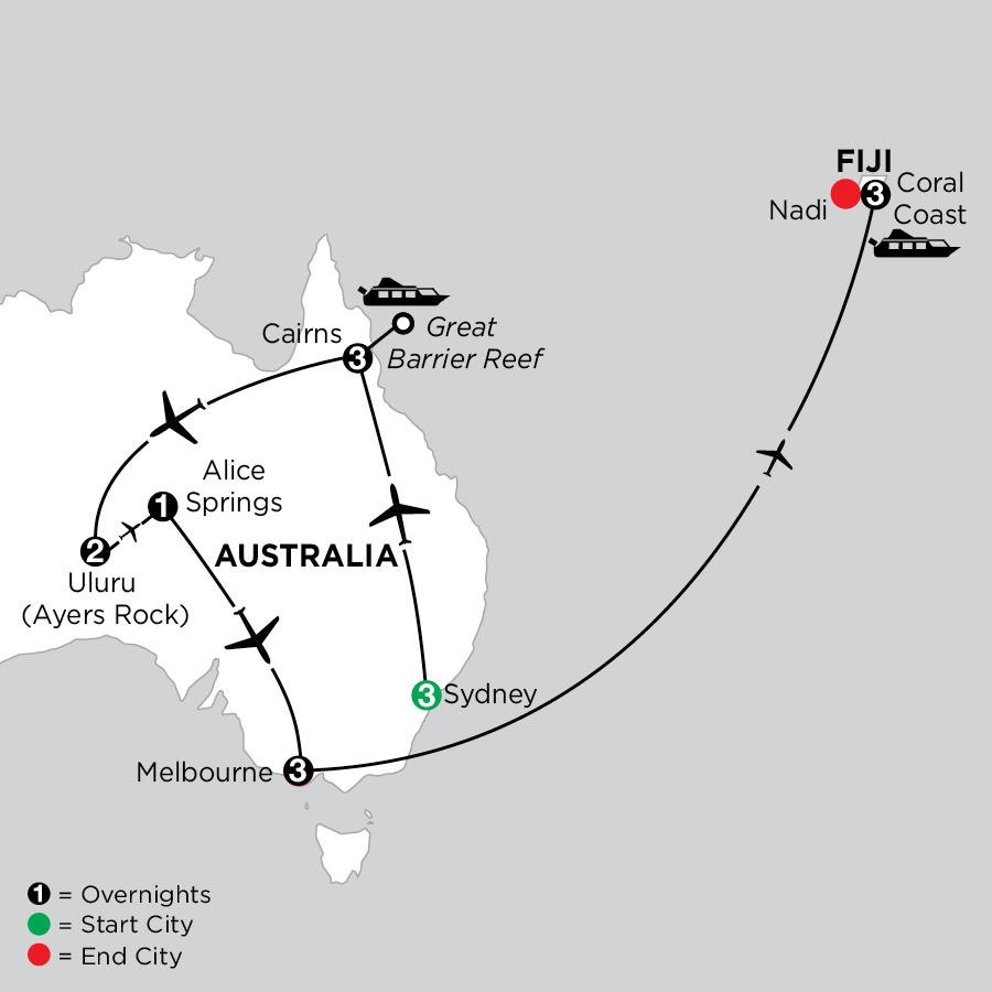 Best of Australia with Fiji