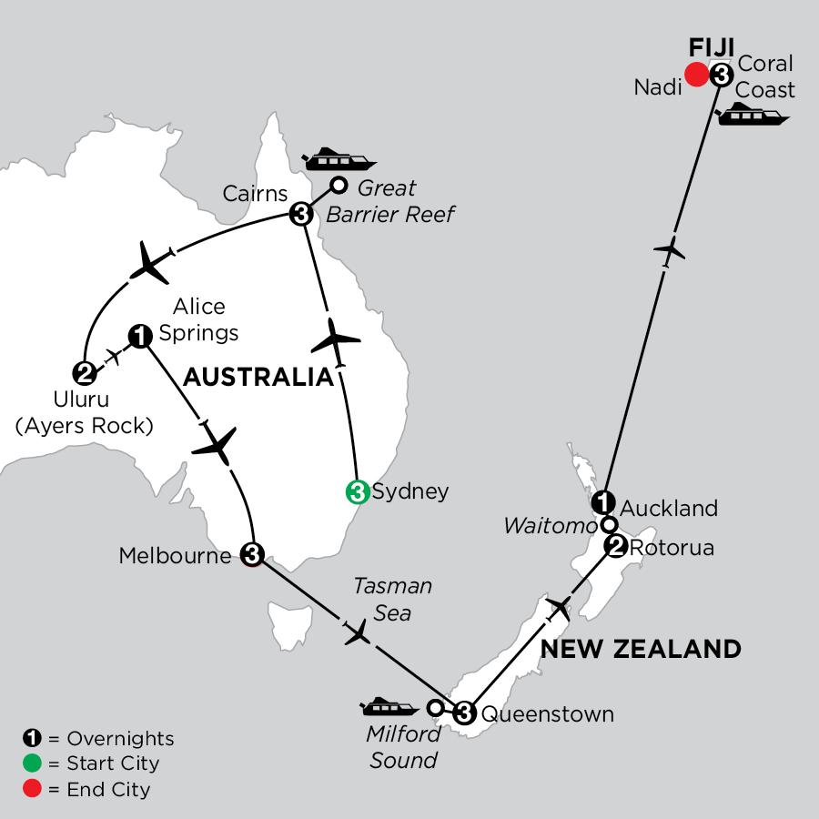 Best of Australia with Queenstown, Rotorua & Fiji