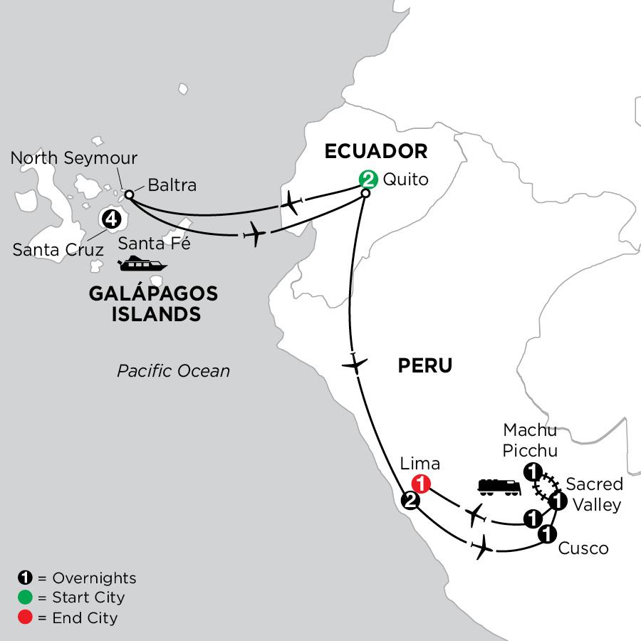 Galápagos Highlights & Peru