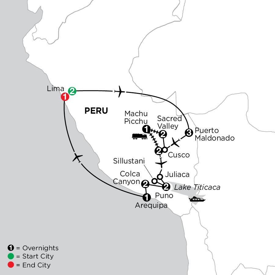 Perus Amazon & the Arequipa & Coca Canyon