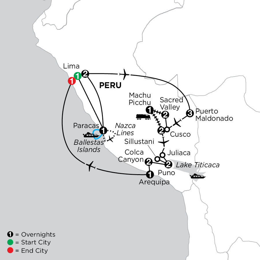 Perus Amazon & the Andes Nazca Lines, Arequipa & Colca Canyon
