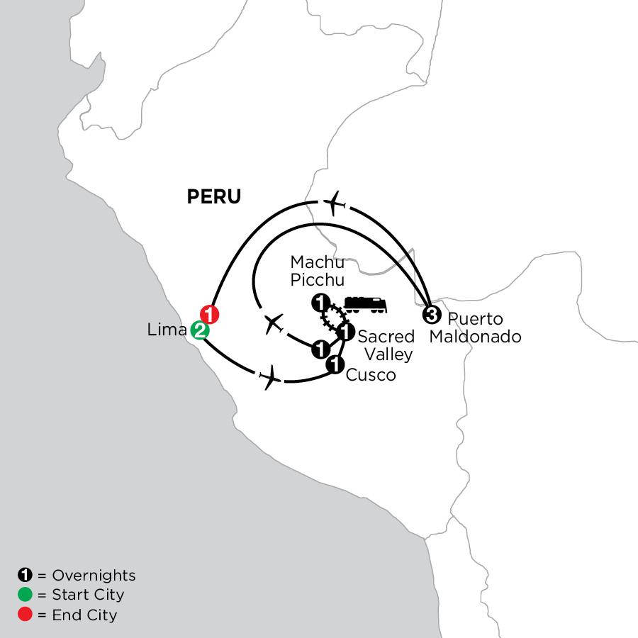 Peru Highlights with Perus Amazon