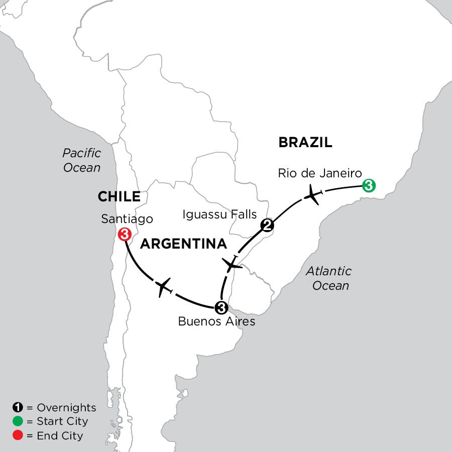 Brazil, Argentina & Chile
