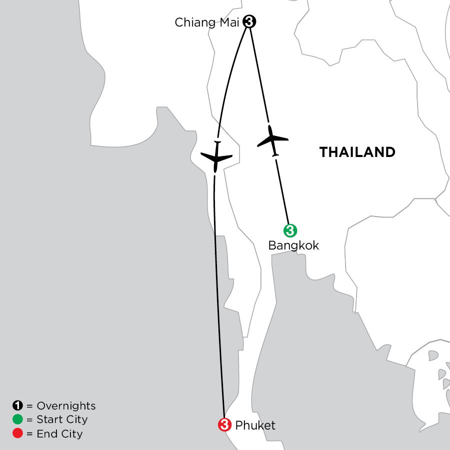 Bangkok, Chiang Mai & Phuket