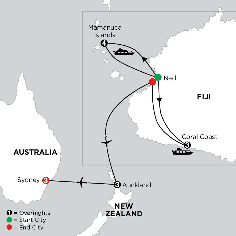 Tropical Fiji with Auckland & Sydney