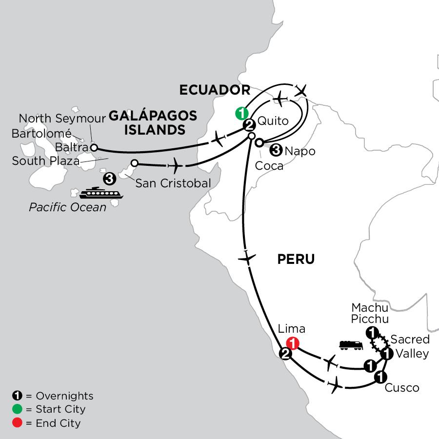 Cruising the Galápagos on the Galápagos Legend with Ecuadors Amazon & Peru