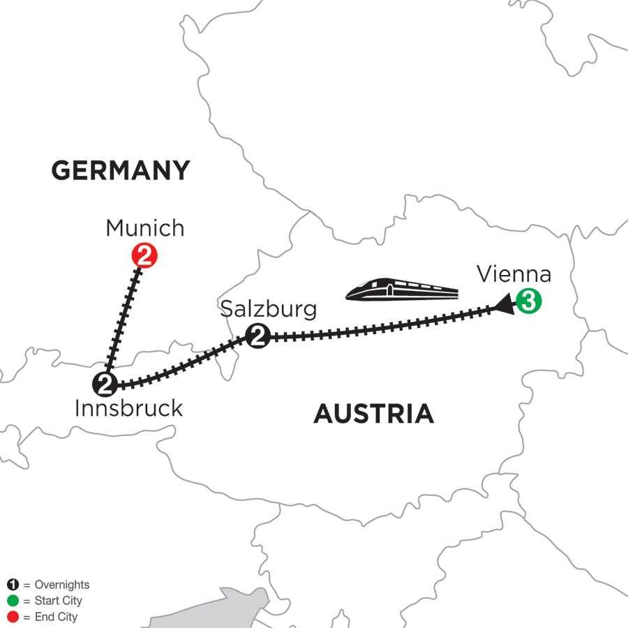 Vienna, Salzburg, Innsbruck & Munich