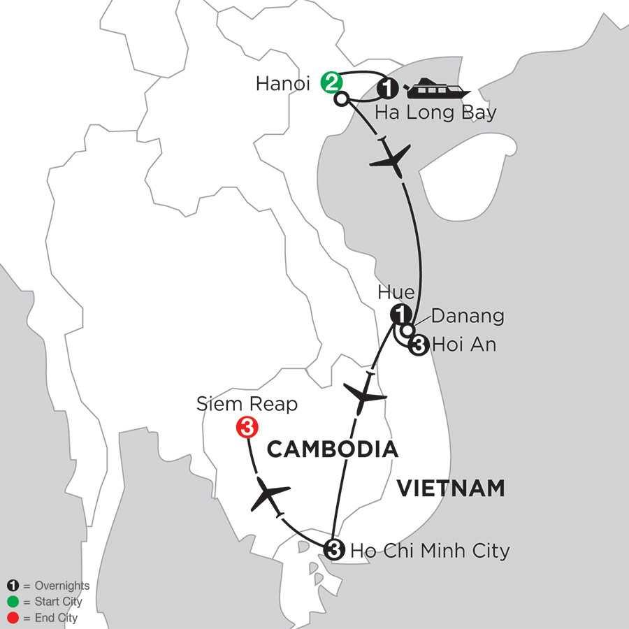 Enchanting Vietnam with Siem Reap