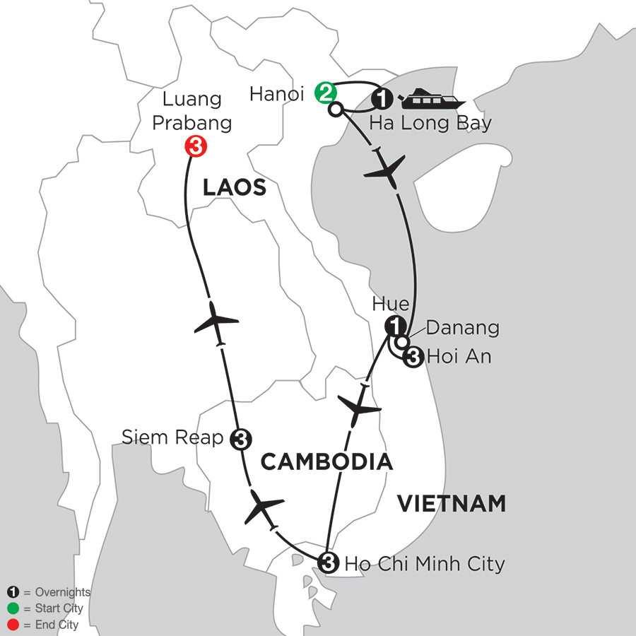 Enchanting Vietnam with Siem Reap & Luang Prabang