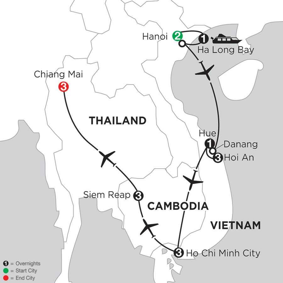 Enchanting Vietnam with Siem Reap & Chiang Mai