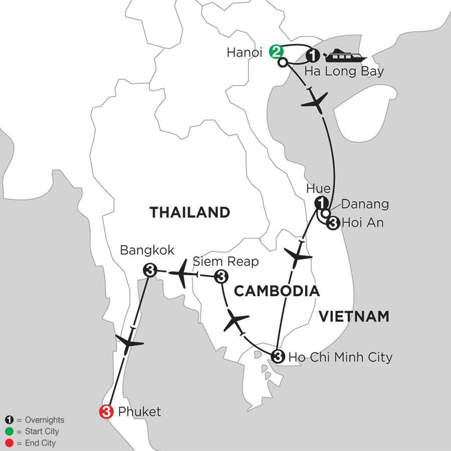 Enchanting Vietnam with Siem Reap, Bangkok, & Phuket