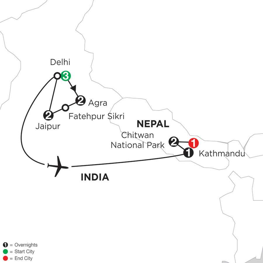 Indias Golden Triangle with Nepal