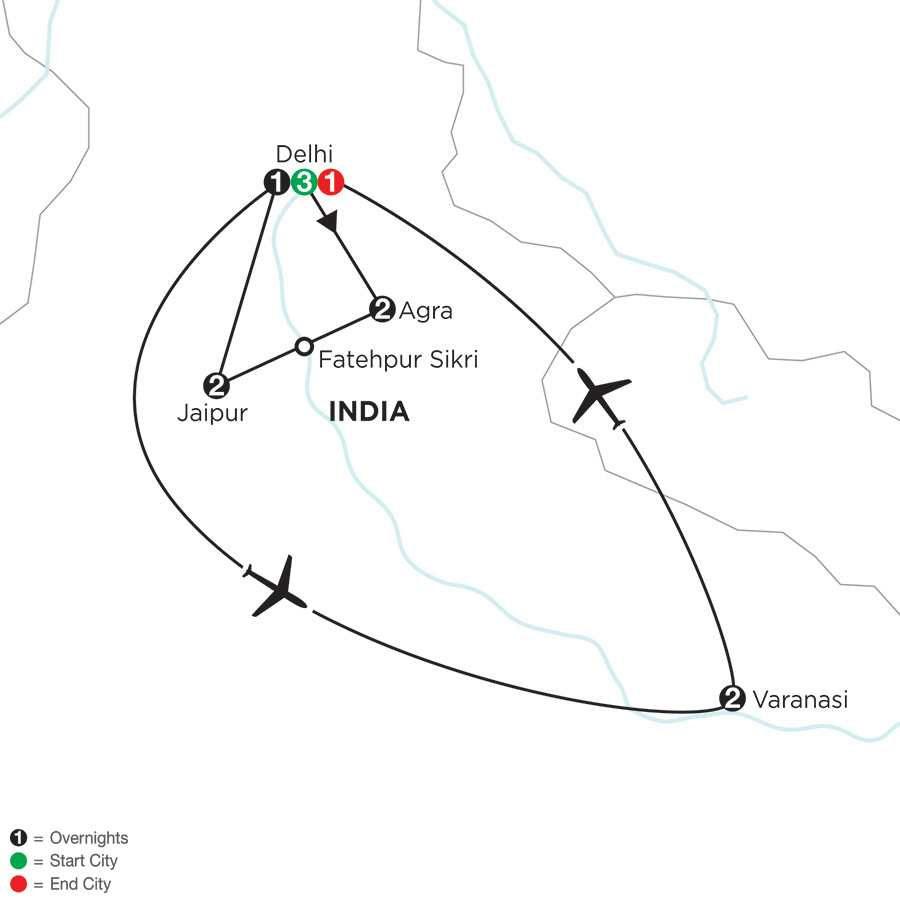 Indias Golden Triangle with Varanasi