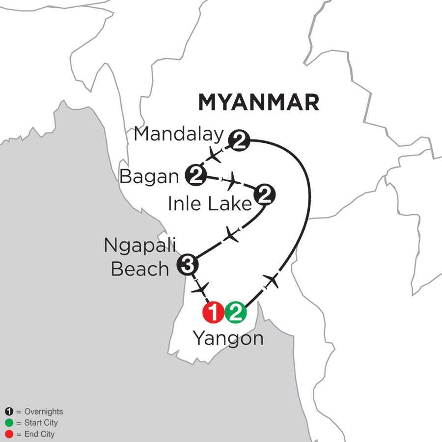 Mingalabar Myanmar with Ngapali Beach