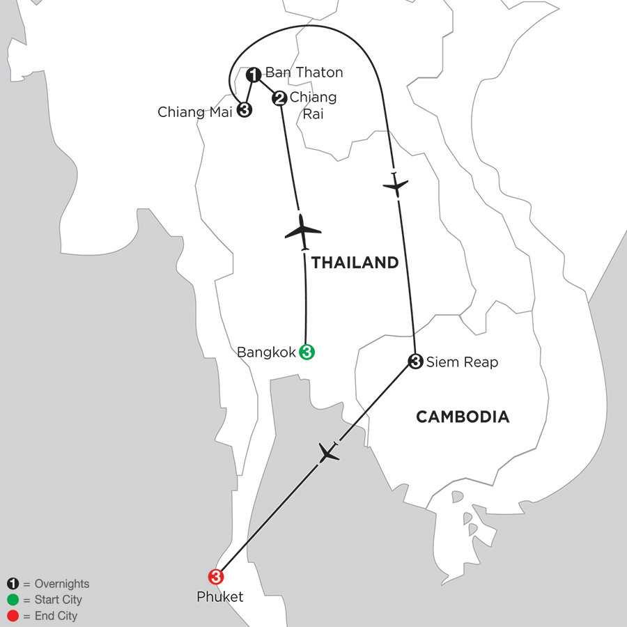 Best of Thailand with Siem Reap & Phuket