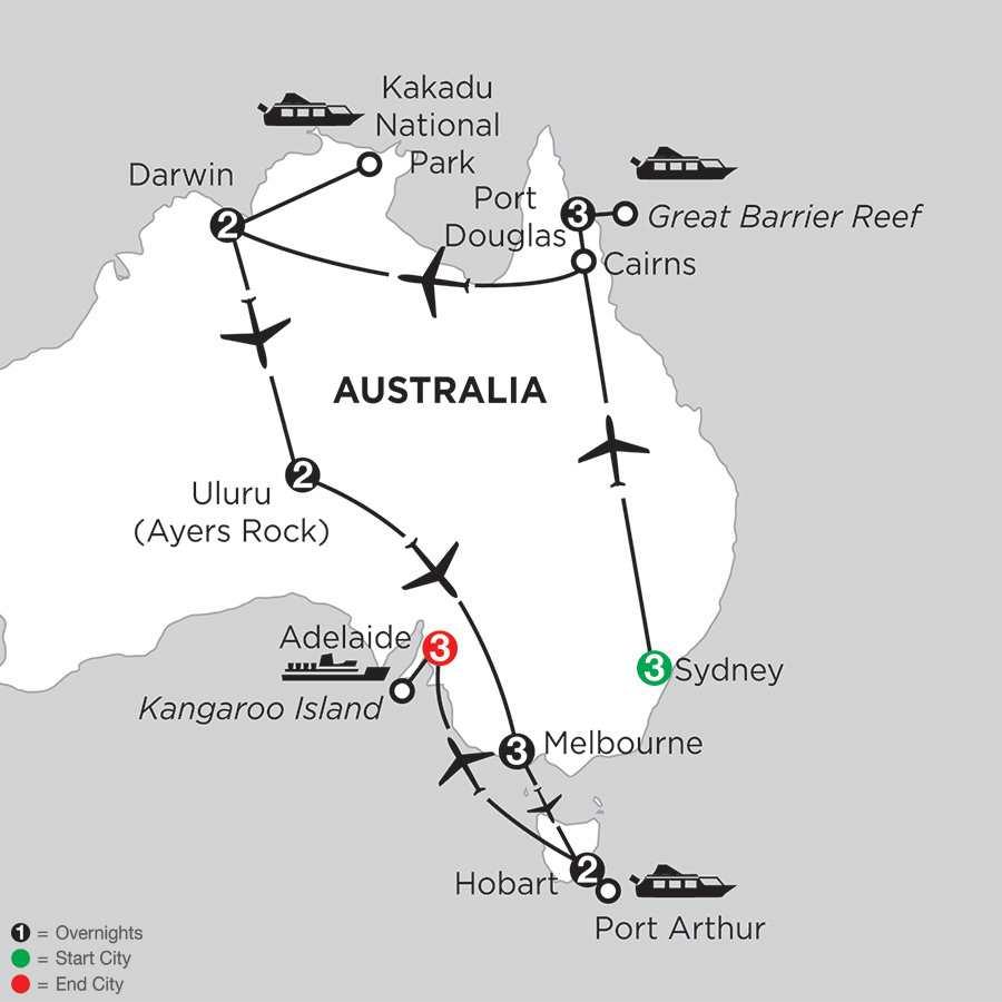 Wonders of Australia with Hobart & Adelaide