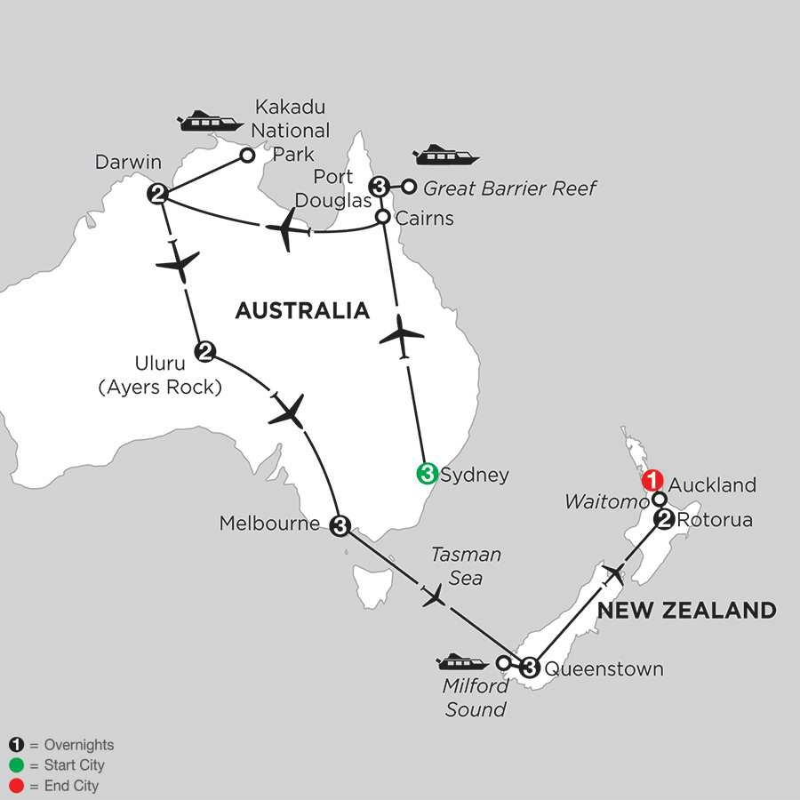 Wonders of Australia with Queenstown & Rotorua