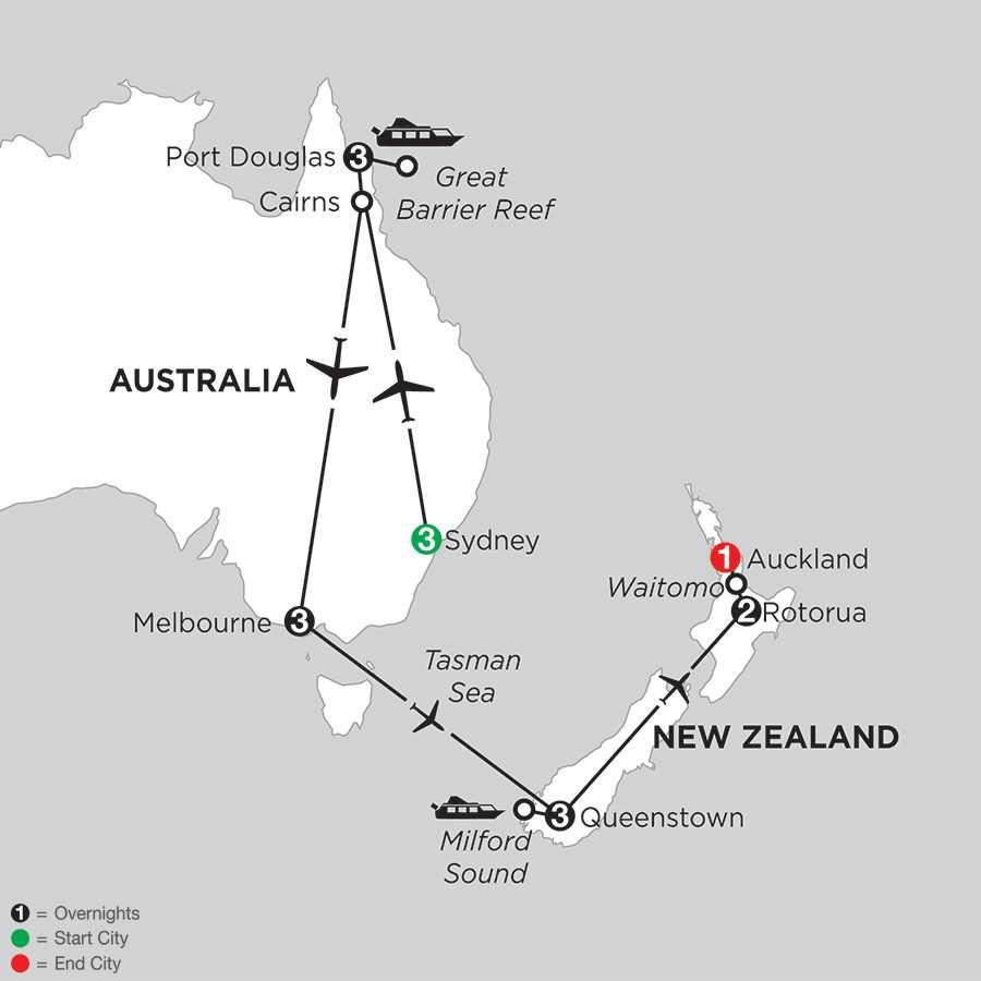 Australian Escape with Queenstown & Rotorua