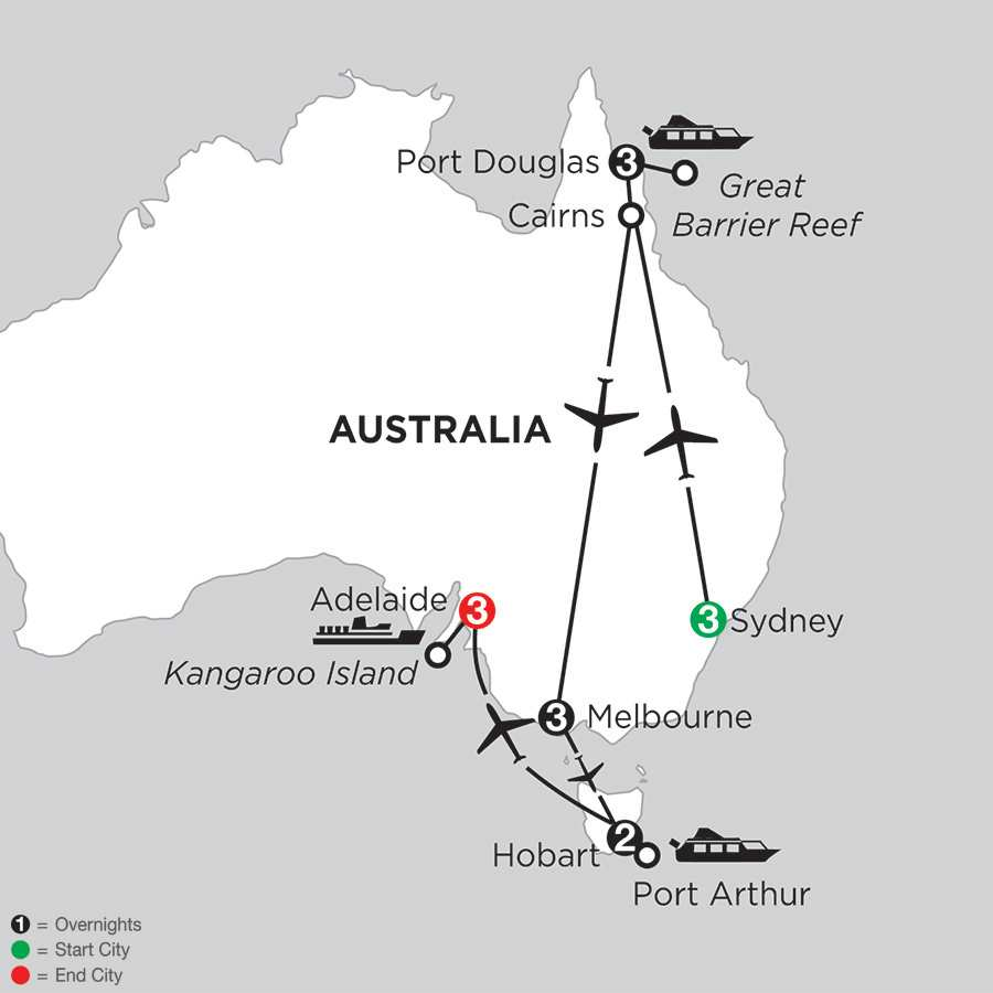 Australian Escape with Hobart & Adelaide