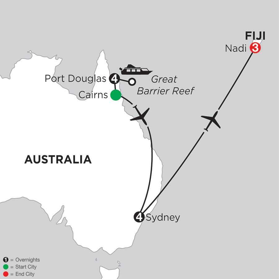 Great Barrier Reef & Sydney with Fiji