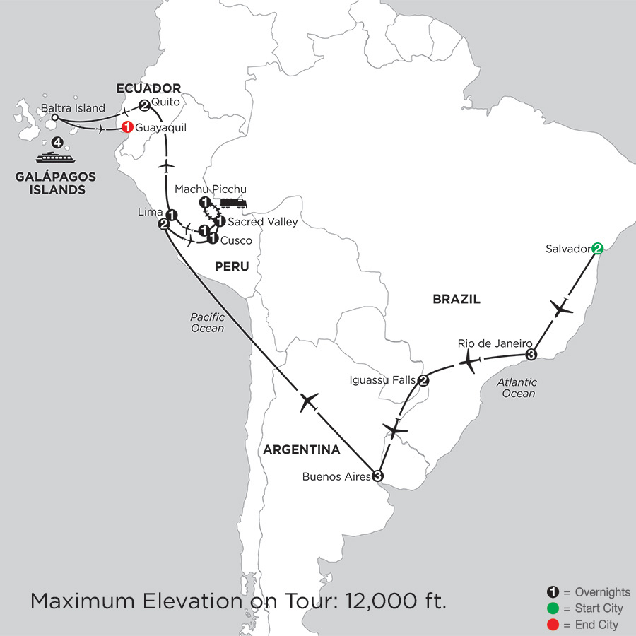 Grand Tour of South America with Salvador & the Galápagos on board the La Pinta