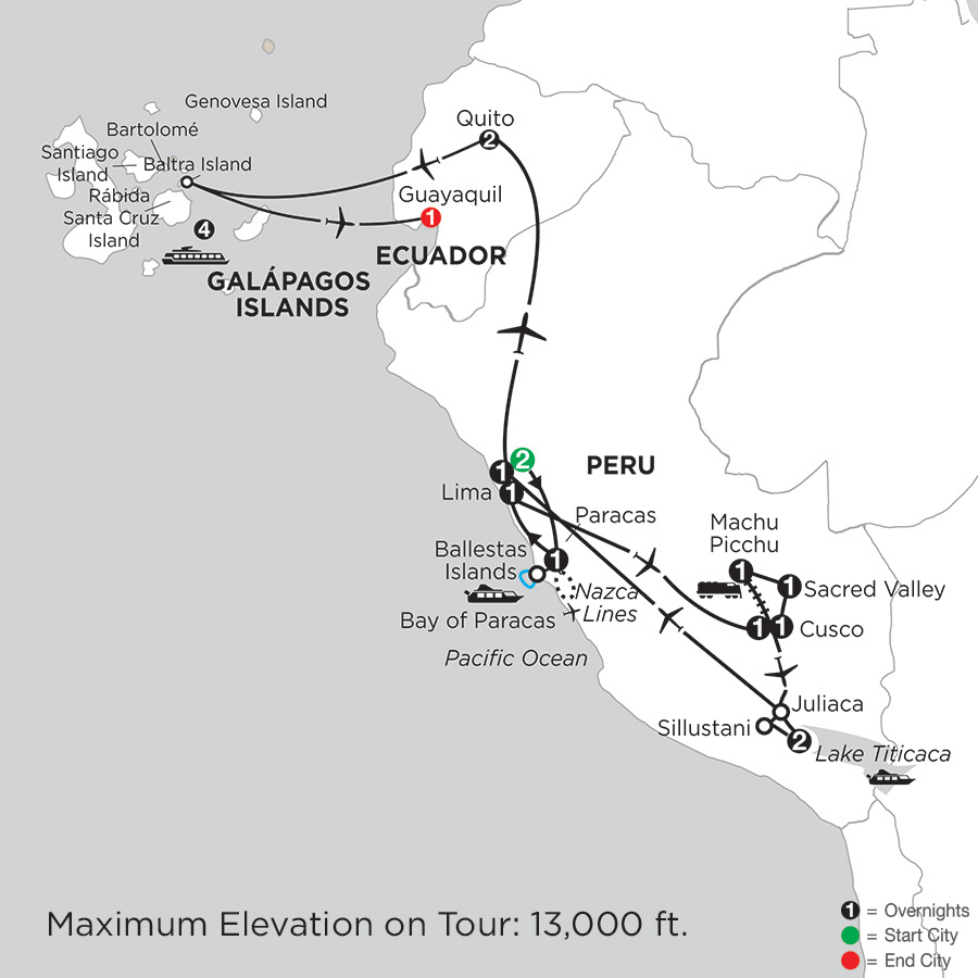 Andean Explorer with the Galápagos on the La Pinta