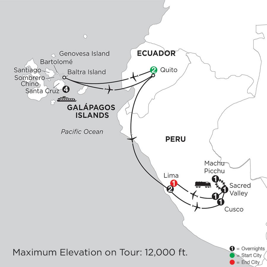 Cruising the Galápagos on board the La Pinta with Peru
