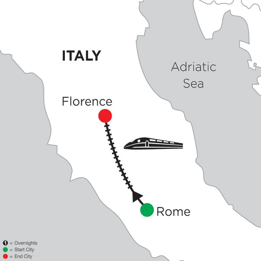 2 Nights Rome & 4 Nights Florence