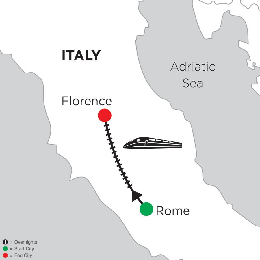 3 Nights Rome & 4 Nights Florence