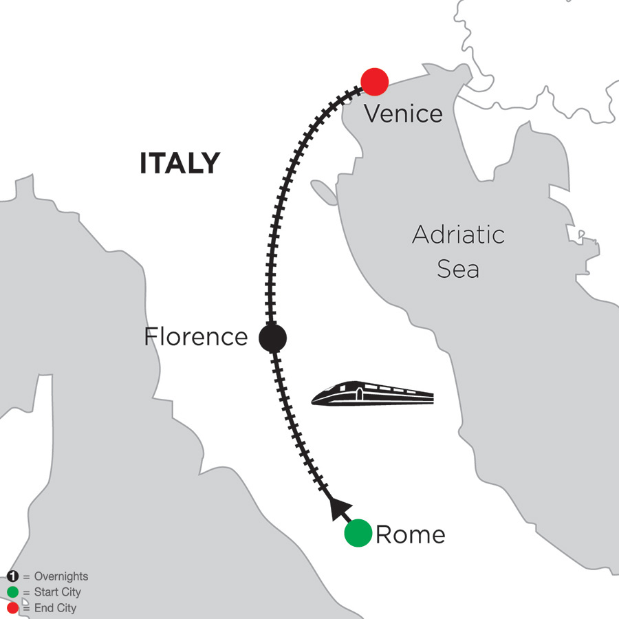 2 Nights Rome, 4 Nights Florence & 3 Nights Venice