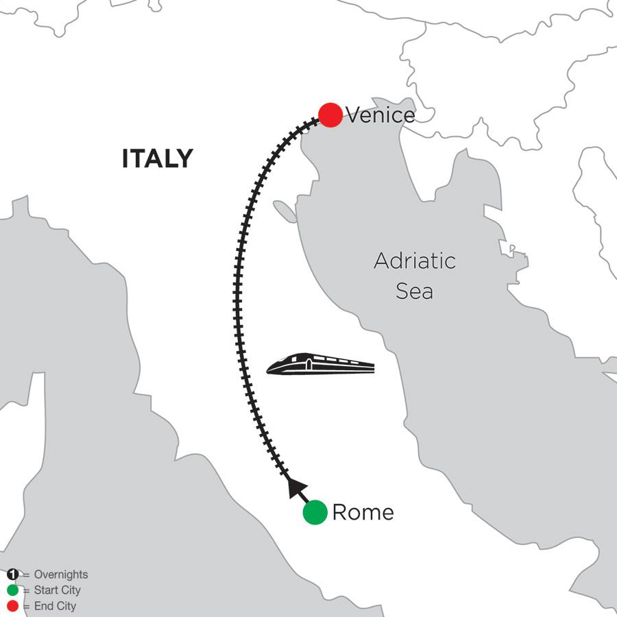 3 Nights Rome & 4 Nights Venice
