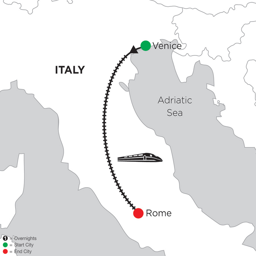 2 Nights Venice & 3 Nights Rome