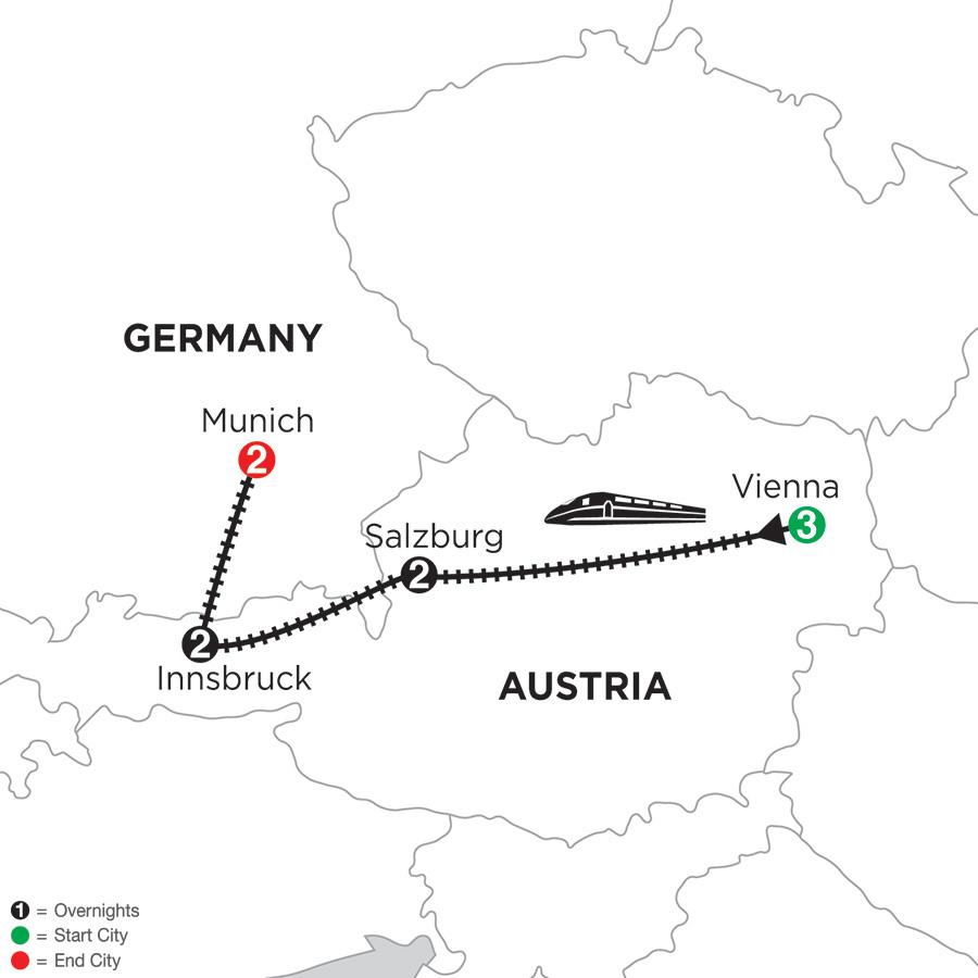 Vienna Salzburg Innsbruck Munich Vacations Monograms