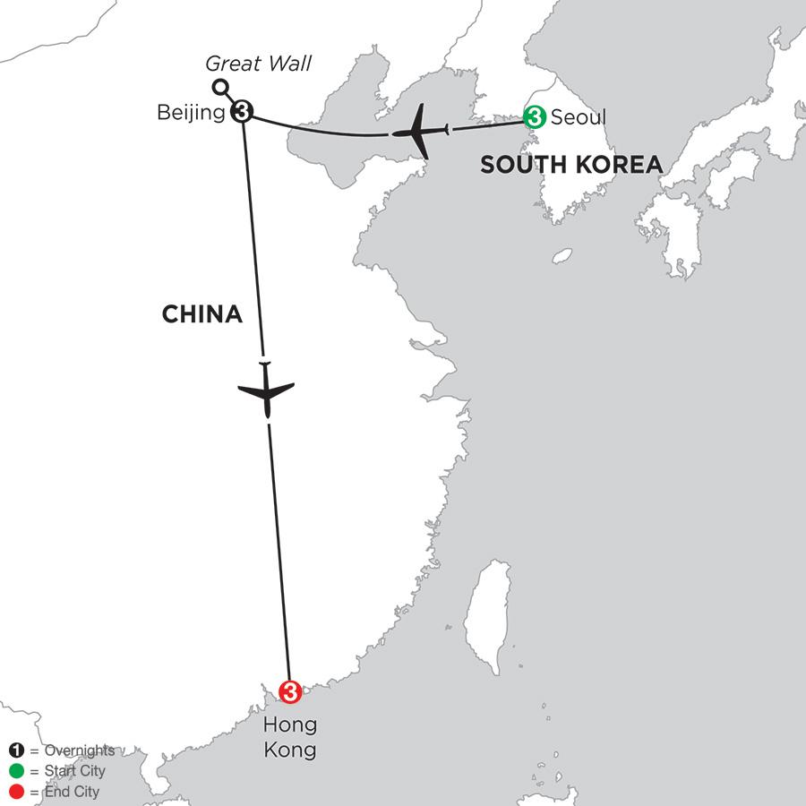 Seoul, Beijing & Hong Kong